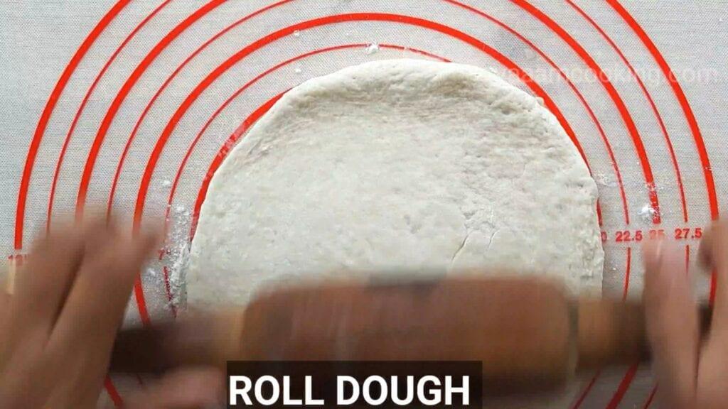 Eggless-doughnuts-recipe-eggless-donut-recipe-roll-the-dough