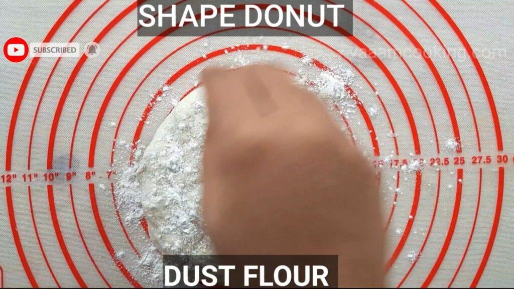 Eggless-doughnuts-recipe-eggless-donut-recipe-dust-flour