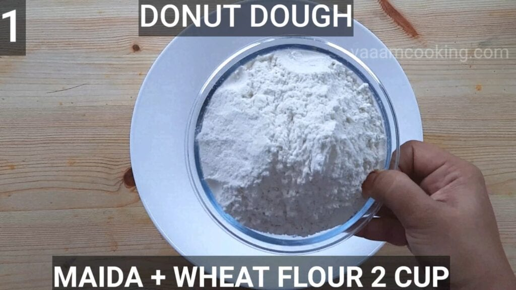 Eggless-doughnuts-recipe-eggless-donut-recipe-maida