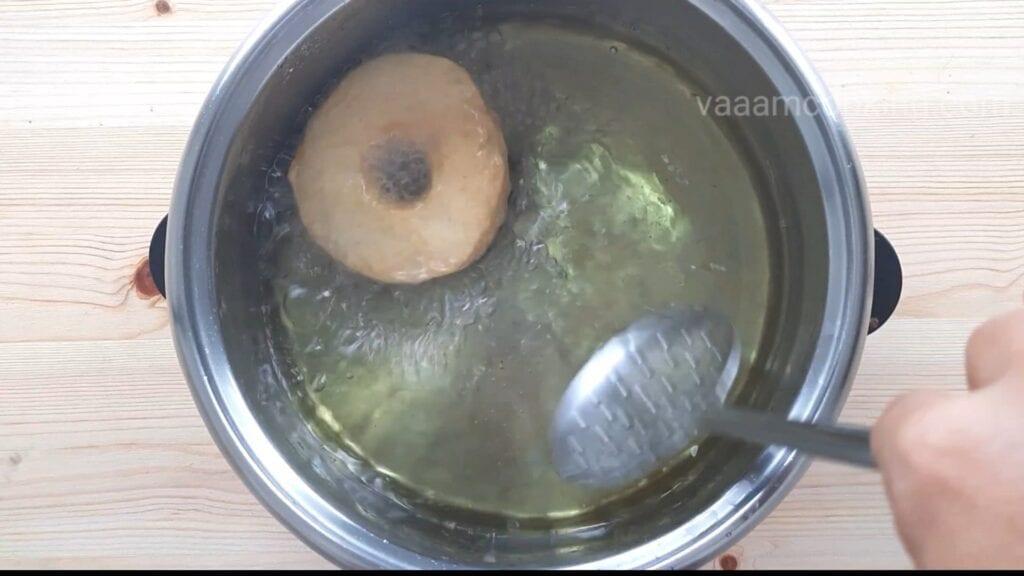 Eggless-doughnuts-recipe-eggless-donut-recipe-fried-donut-oil-fry