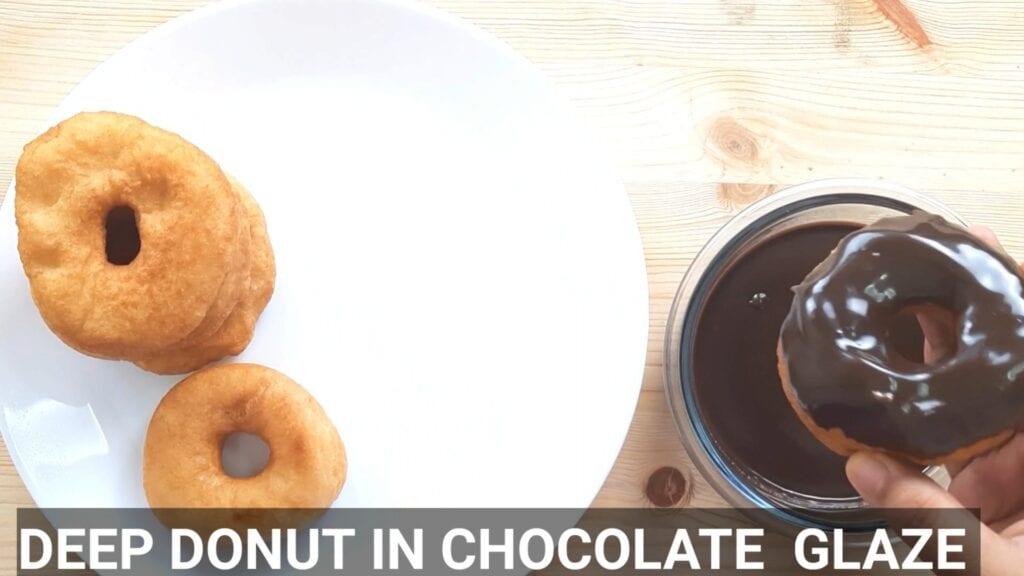 Eggless-doughnuts-recipe-eggless-donut-recipe-fried-donut-coat-with-galze