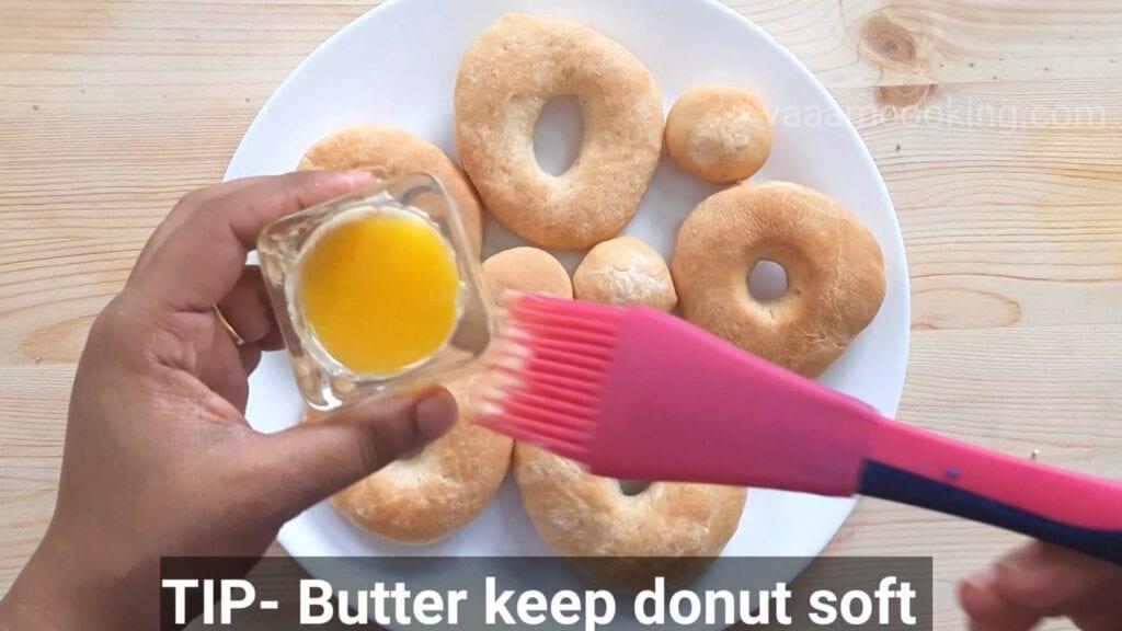 Eggless-doughnuts-recipe-eggless-donut-recipe-baked-donut-glaze-butter