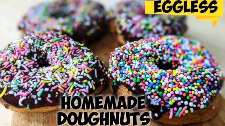 Eggless doughnuts recipe | Baked and Fried Doughnuts