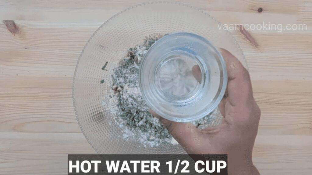Palak-vadi-recipe-healthy-spinach-rolls-hot-water