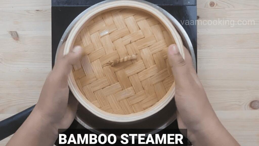 Palak-vadi-recipe-healthy-spinach-rolls-bamboo-steamer
