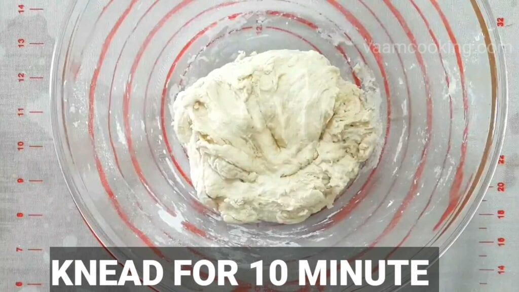 Paneer tikka pizza Knead for 10 mins