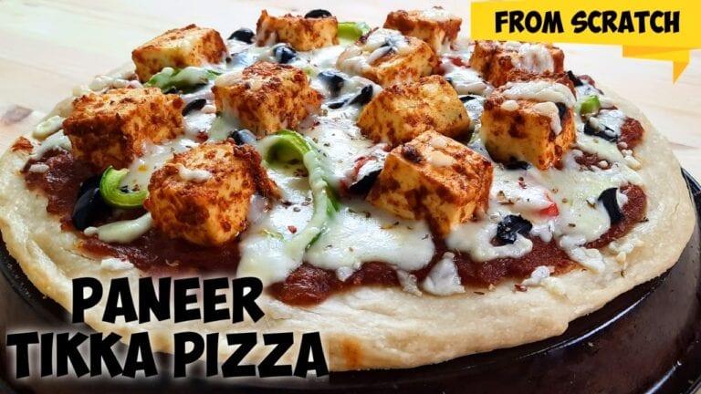 Paneer Tikka Pizza | Homemade Paneer Pizza