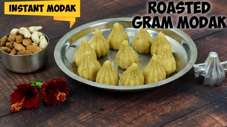 Pottukadalai modak|Roasted gram modak|Instant roasted gram modak|No cooking modak