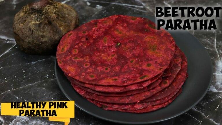 Beetroot paratha recipe|Healthy beetroot paratha