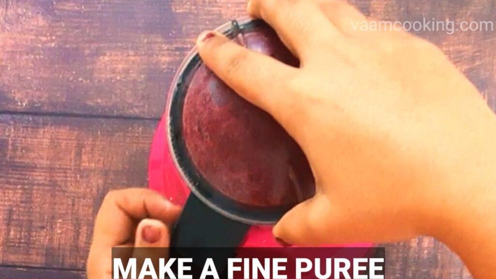 beetroot-paratha-recipe-beetroot puree