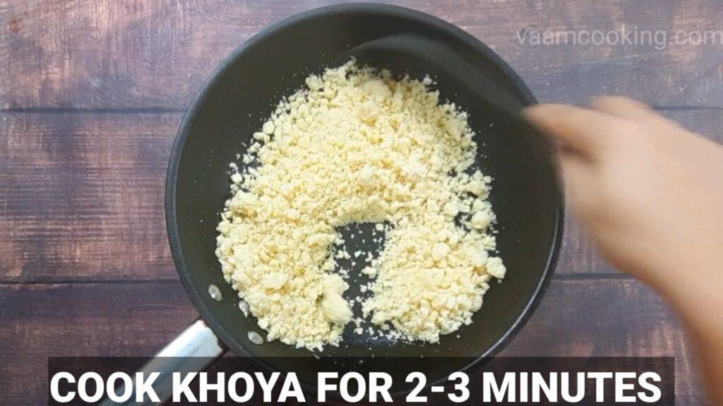 chocolate-modak- recipe cook khoya