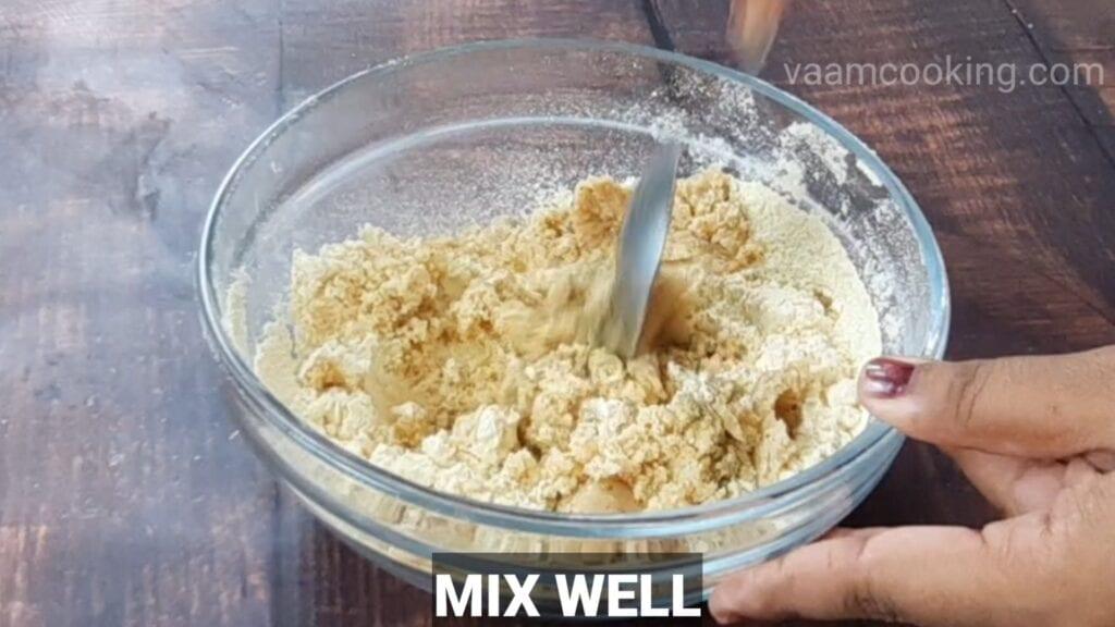 instant-roasted-gram-modak mix well