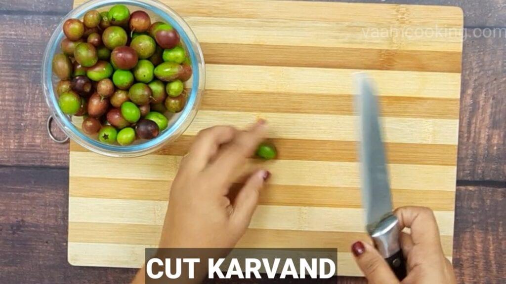 karvand-murabba-recipe chop karvand