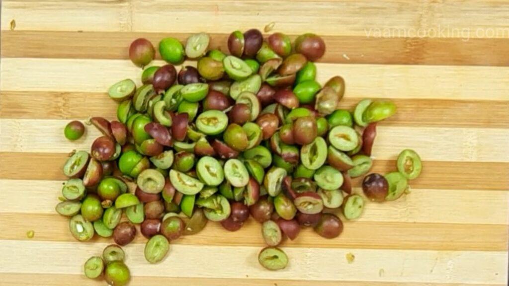 karvand-murabba-recipe chopped karvand