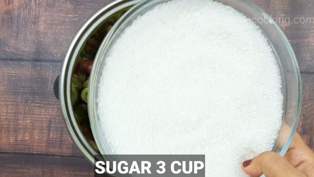 karvand-murabba-recipe add sugar