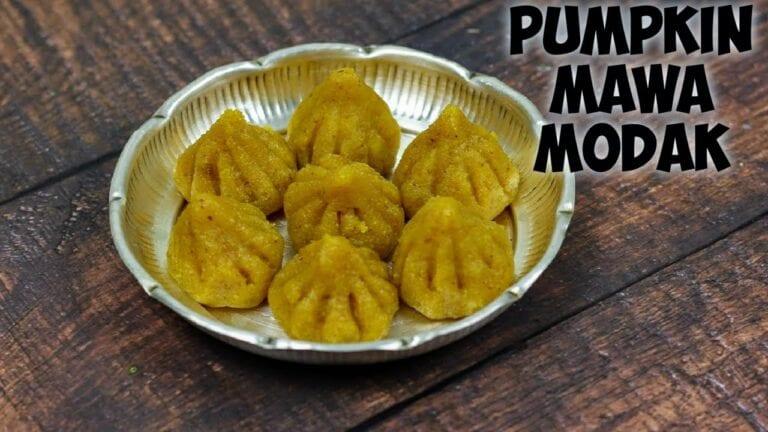 Pumpkin modak |Pumpkin khoya modak |Pumpkin modak recipe