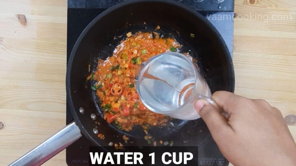 schezwan-fried-rice-add-water