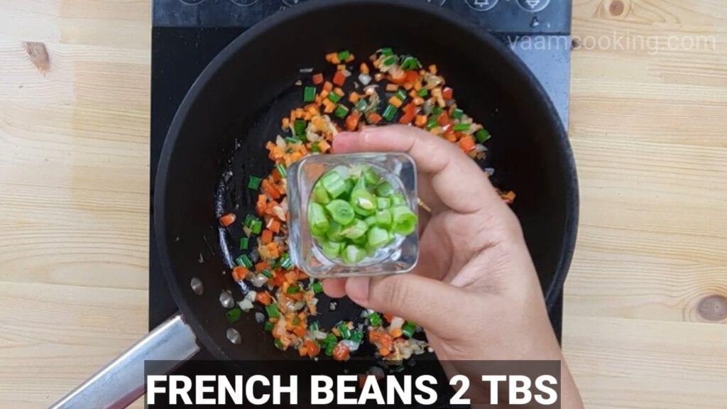 schezwan-fried-rice-french-beans