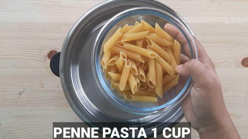 white sauce pasta vegetarian pasta add penne pasta