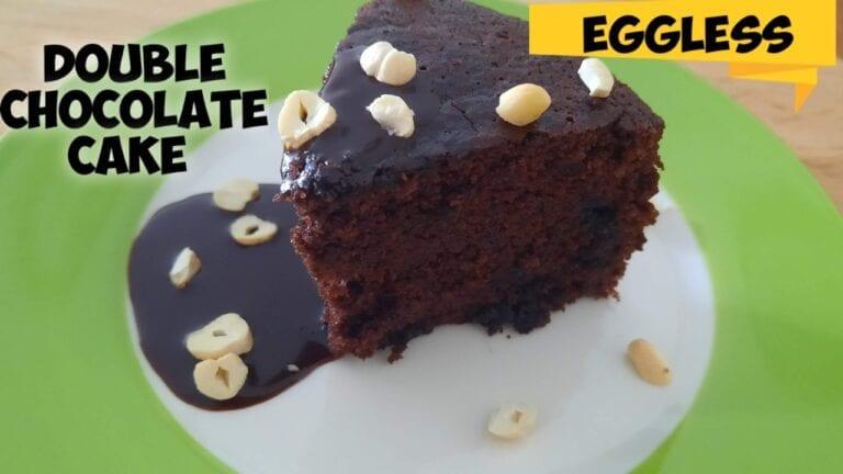 Eggless Double Chocolate cake recipe |How to bake chocolate cake Vegan|Vegan chocolate cake