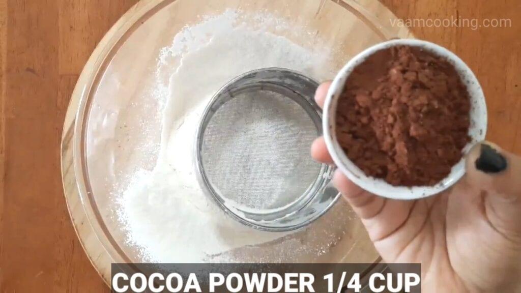 Double-chocolate-cake-recipe cocoa powder