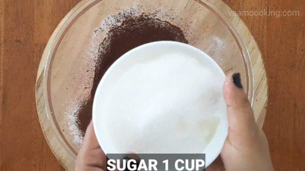 Double-chocolate-cake-recipe sugar