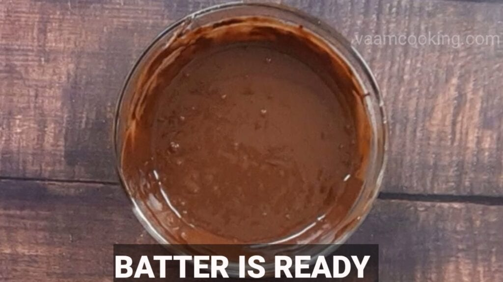 choco-lava-cake batter is ready