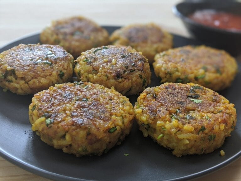 Healthy rice cutlet |Leftover rice cutlet