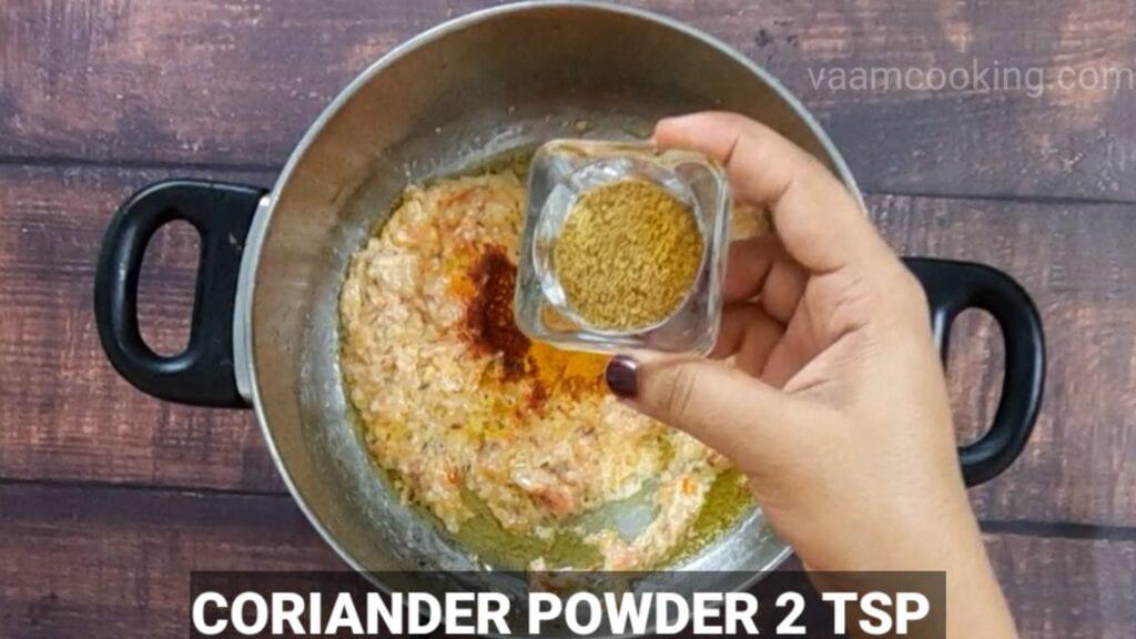 veg-korma-recipe add coriander powder