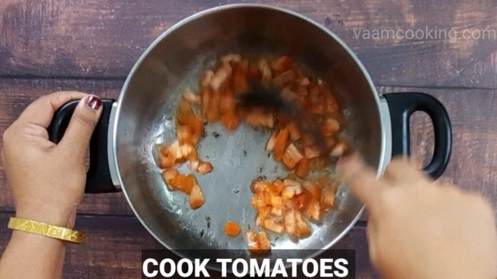 veg-korma-recipe cook tomatoes