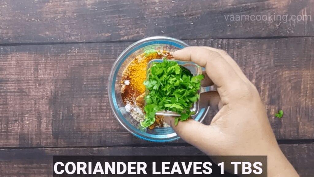Bharwa-baingan-recipe-coriander-leaves
