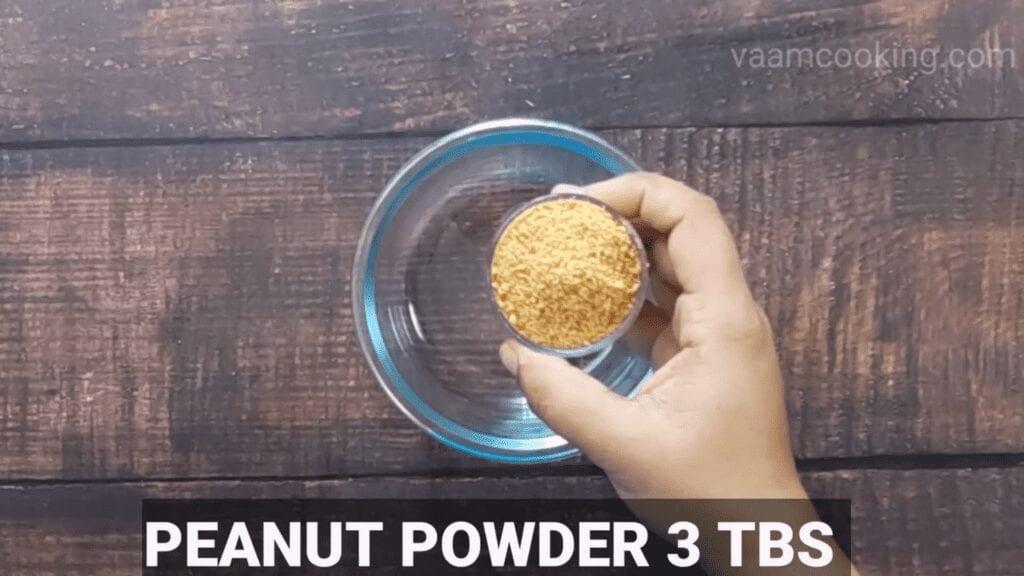 Bharwa-baingan-recipe-peanut-powder