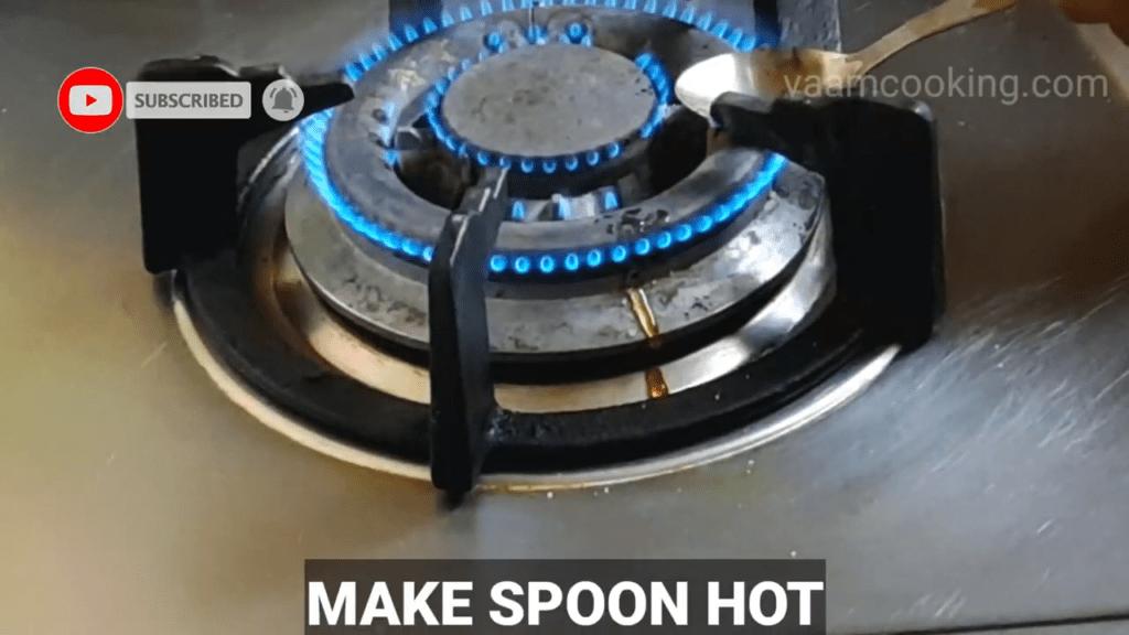 Eggless-Creme-Brulee-recipe-make-spoon-hot