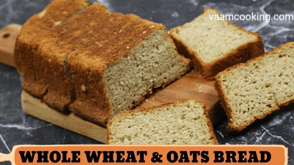 Eggless-whole-wheat-bread-recipe-oats-bread-recipe