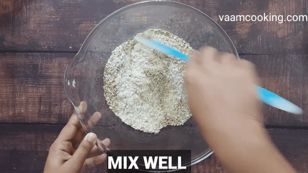 Eggless-whole-wheat-bread-recipe-mix-well