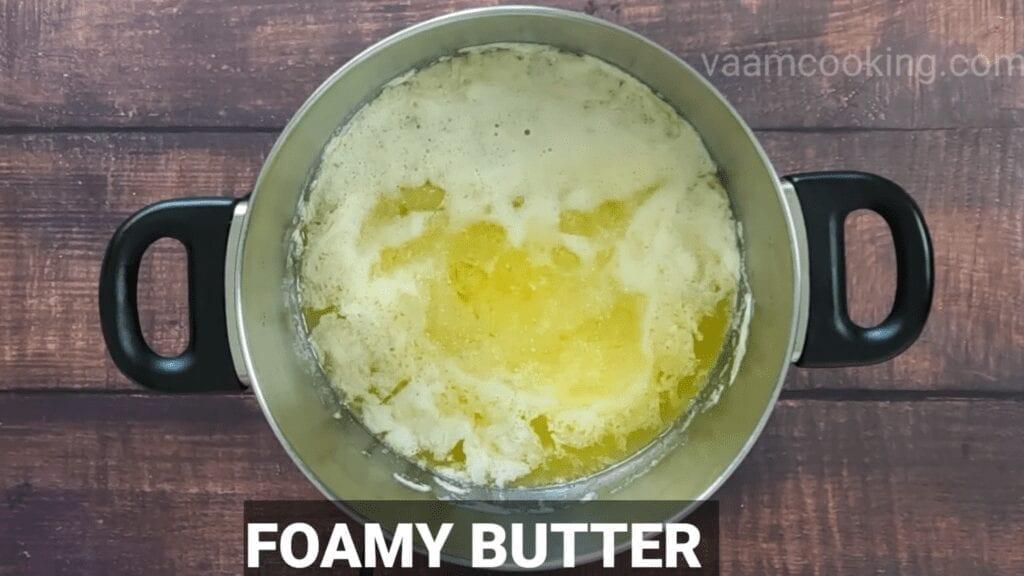 homemade-ghee-recipe-foamy-butter