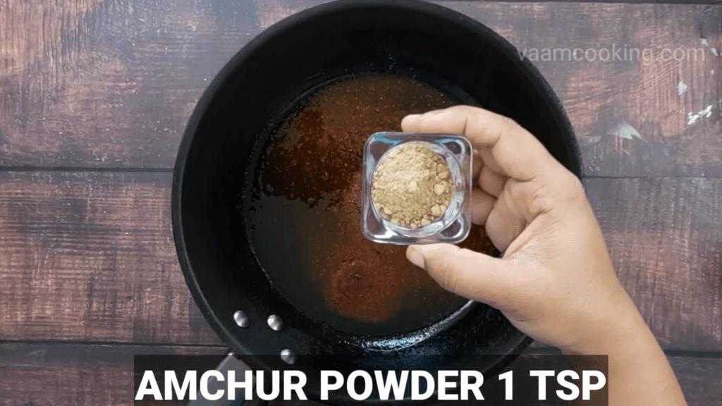Kothimbir-vadi-recipe-stuffing-amchur-powder