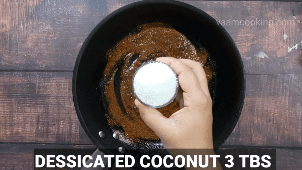 Kothimbir-vadi-recipe-stuffing-desiccated-coconut