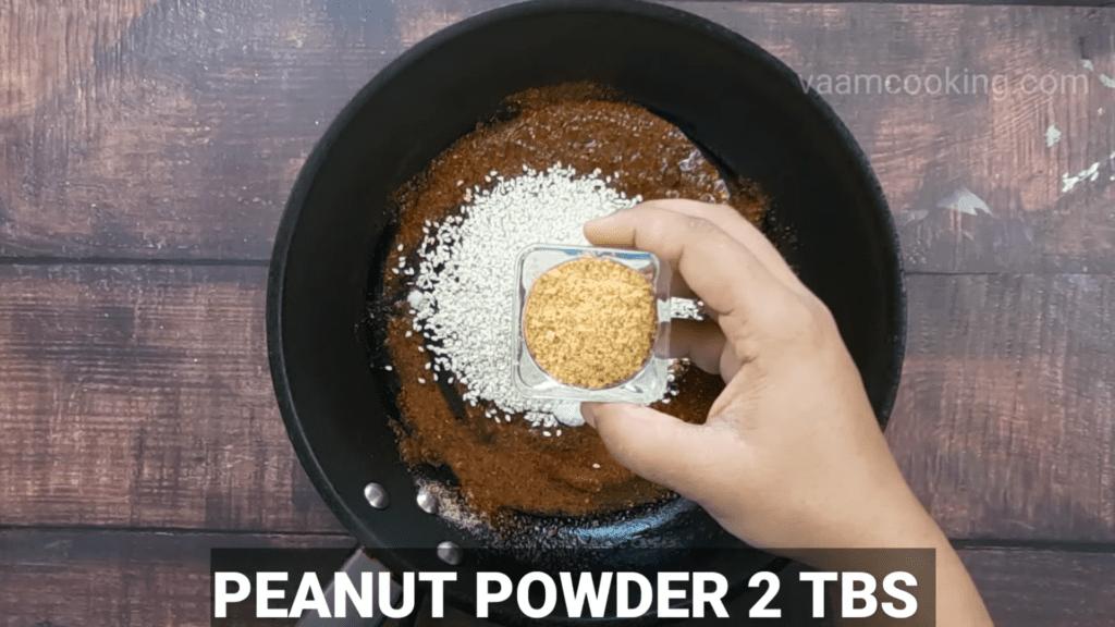 Kothimbir-vadi-recipe-stuffing-peanut-powder