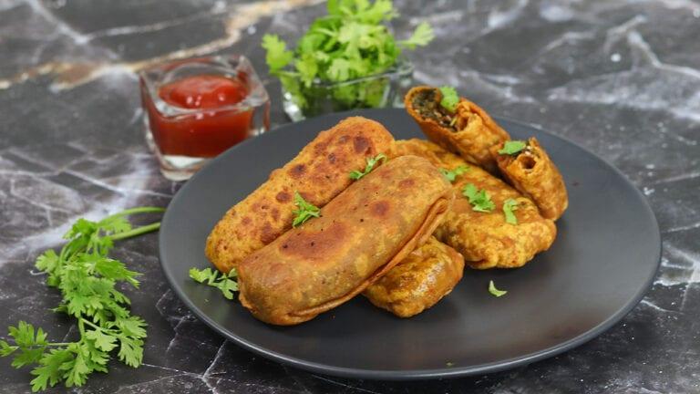 Kothimbir-vadi-recipe-coriander-rolls