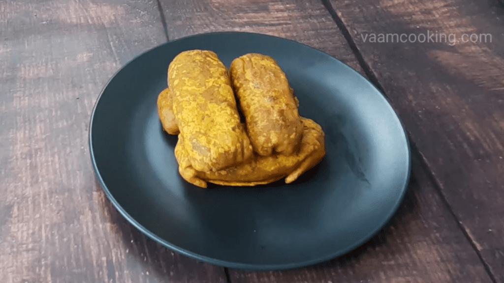 Kothimbir-vadi-recipe-coriander-stuffed-rolls