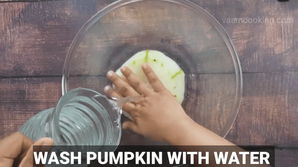 angoori-petha-recipe-wash-pumpkin-with-water