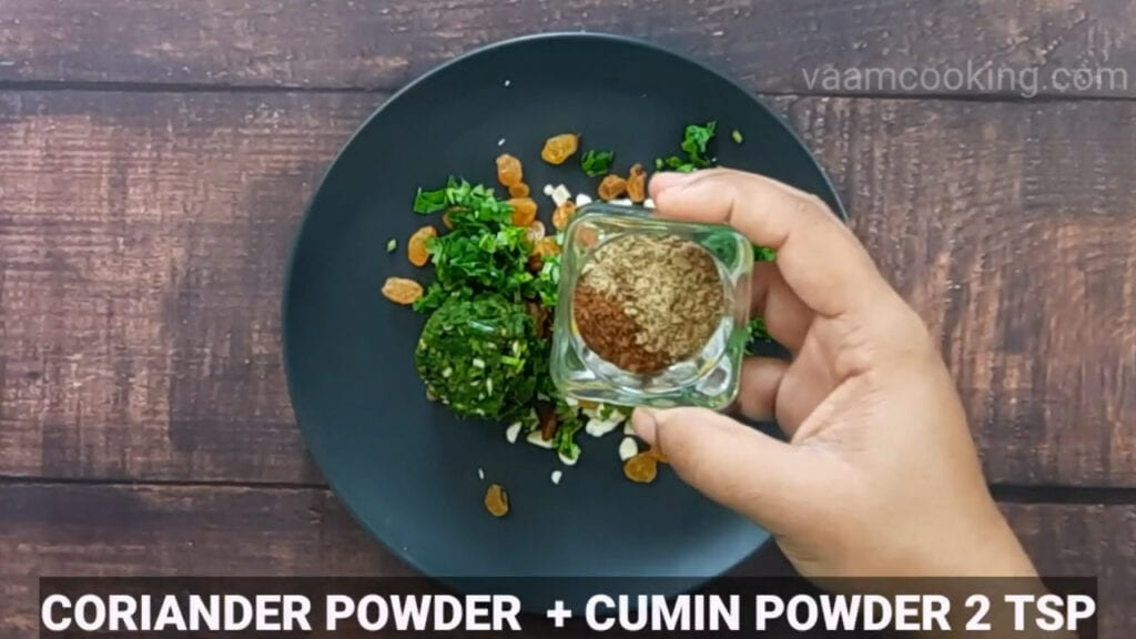 paneer-pasanda-recipe-stuffing-coriander-powder