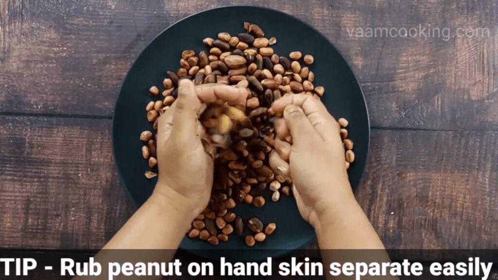 homemade-peanut-butter-recipe-tip--rub-peanut-on-hand-skin-separate-easily