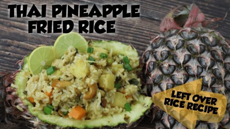Thai pineapple fried rice | Vegetarian Thai pineapple rice recipe