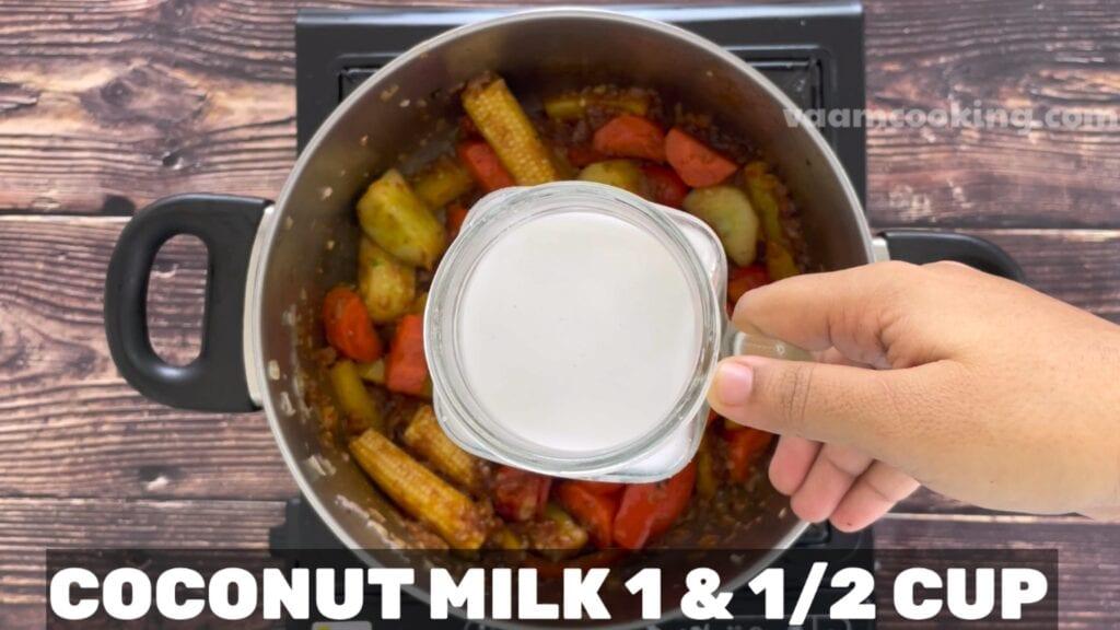 Vegetarian-Thai-red-curry-recipe-coconut-milk