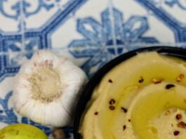 hummus without tahini pin