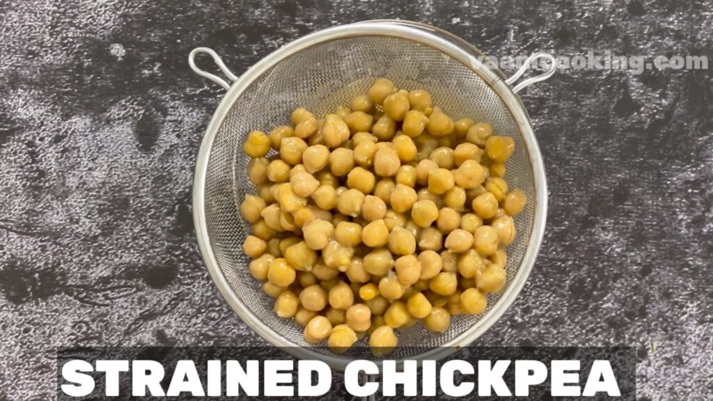 hummus without tahini strained chickpea