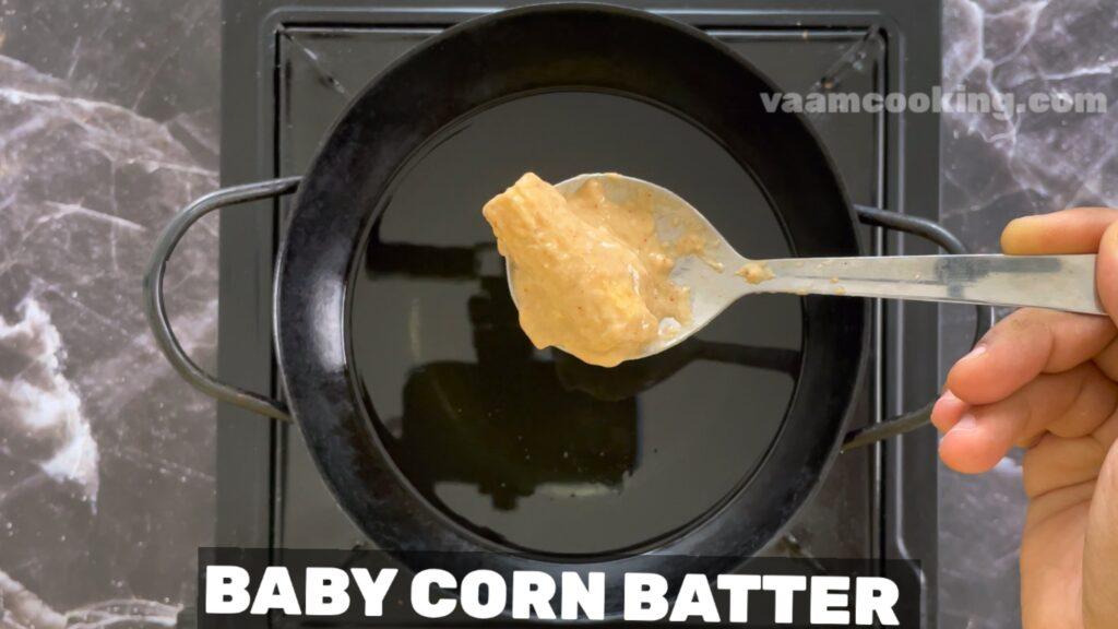 baby corn manchurian fry corn