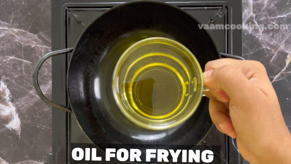 Baby corn manchurian-oil for frying